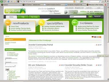 Joomla version of agritura.com