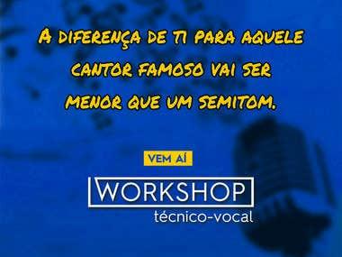 CHAMADA | Pré-evento: Workshop Técnico-vocal