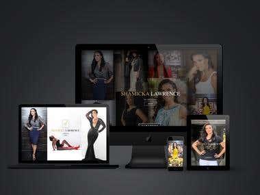 Web Portfolio design for shelondouglas