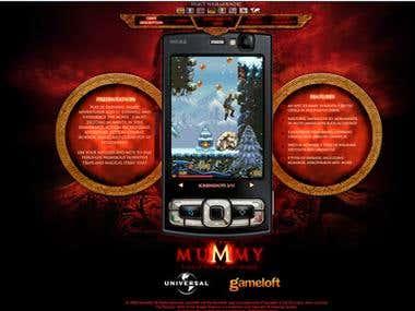 Gameloft minisite