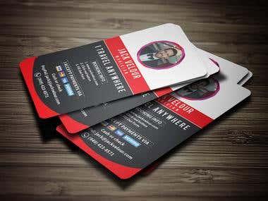 Magician Business Card Design