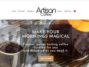 Artisian coffee club (Wordpress)