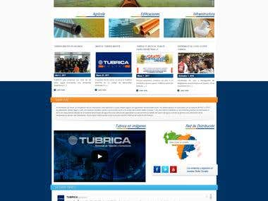 TUBRICA - Corporate Web Site design