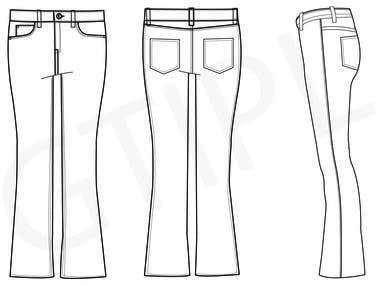 Jeans sketches