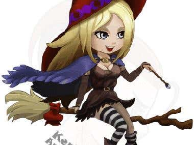Witch game character