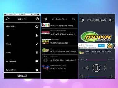 Stream Music Player App