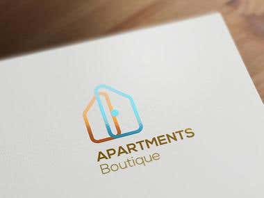 Apartments Boutiqe logo and corporate identity