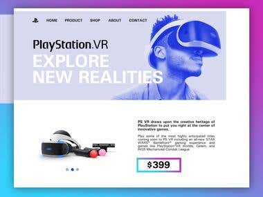Website Playstation VR
