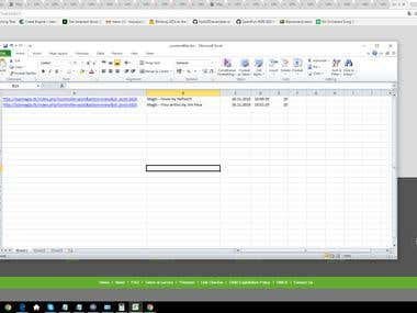 Web Scraping and Filling Excel Spreadsheet