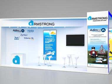 Exhibition stand Armtrong
