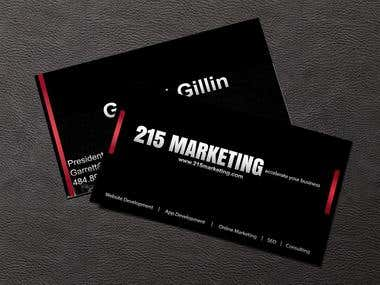 215-marketing business card