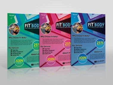 Fitness Flyer Design by Teamph