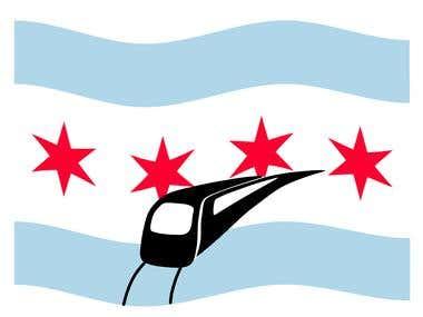 Logo for a transportation app in Chicago