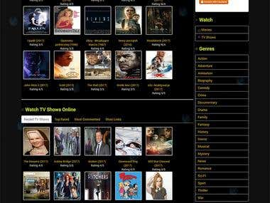 Online Movies and TV Shows website | Codeigniter Script