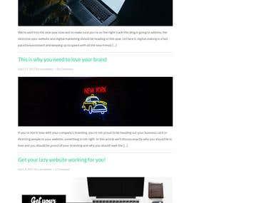 Blog Design and Development