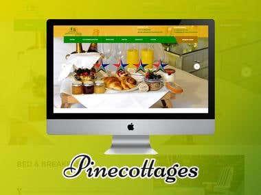 Pine Cottages (Web Design & Development)