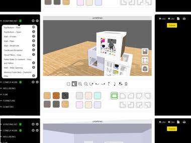 Room planner(WebGL)