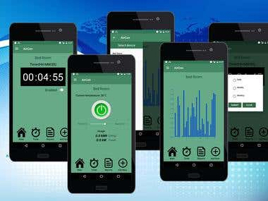 Android control web server