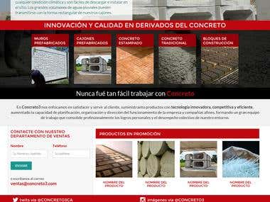 CONCRETO3 - Corporate Web Site Design