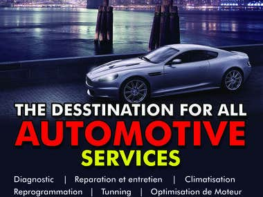 Flyer for auto repair shop