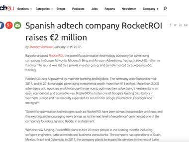 RocketROI raises 2MM€