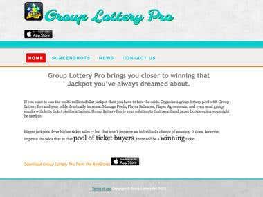 GroupLotteryPro App's Website
