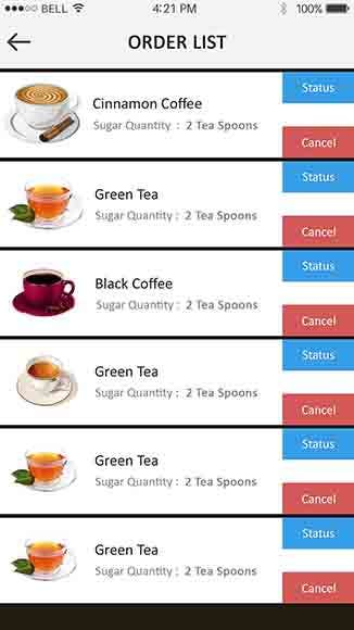 Call My Tea Boy Android and IOS mobile Application