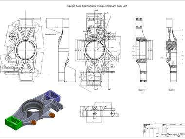 Design of the Upright for FSAE Vehicle