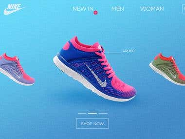 Nike Website Ui Design
