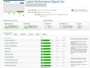 Speed optimizaton for Wordpress Website