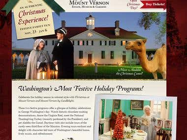 Mount Vernon Landing Pages
