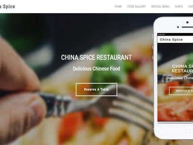 Responsive Website For Resturant.