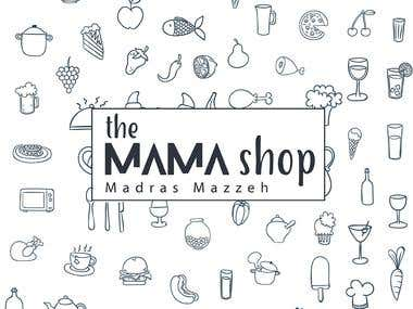 "Logo Design ""The MAMA shop"""