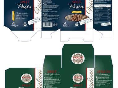 Pasta carton box designs