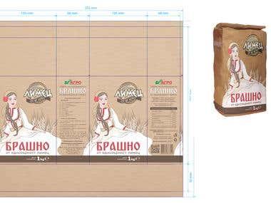 einkorn flour package design