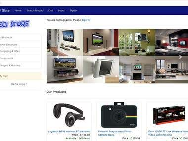 Online Store Using PHP, MySQL, and Boostrap