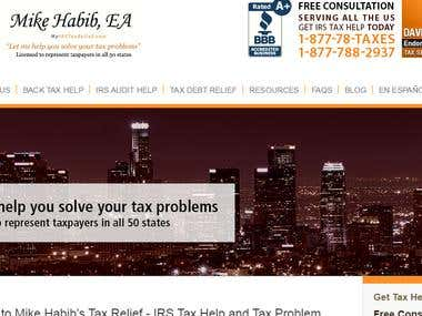 Website Content Writing for My IRS Tax Relief