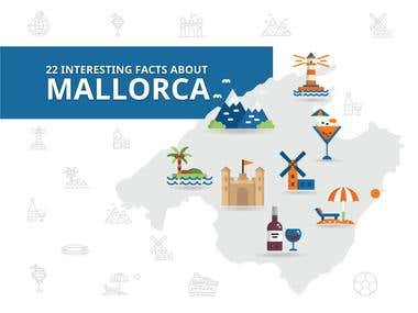 Infographic about the Island Mallorca in Spain.