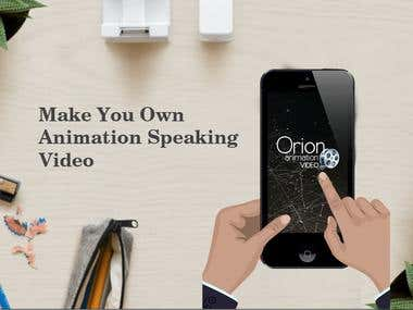 Orion Animation Video Android and IOS Mobile Application