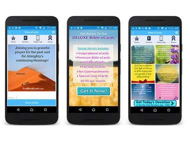 Bible eCard Android and IOS Mobile Application