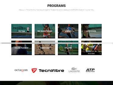 proworldtennis.com Worpdress website With DIVI theme
