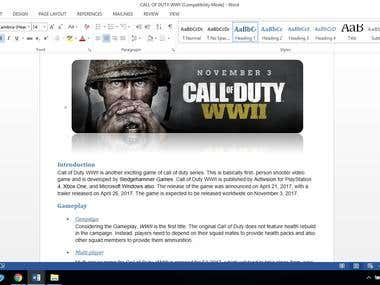 COD WW-ll Review Article.
