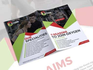 Oxygen Gym Brochure Design