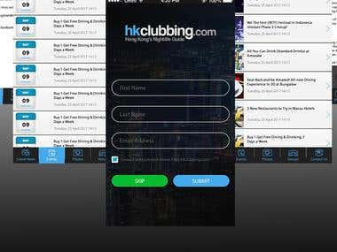 Hkclubbing Android and IOS Mobile Application