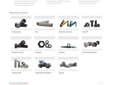 Informative website for manufacturing Industry
