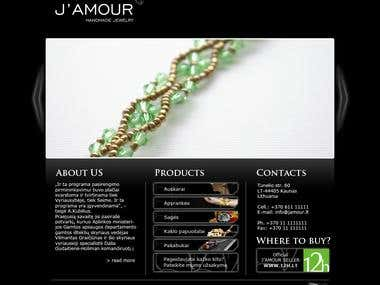 J'amour web site design