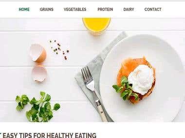 Página Web para Restaurante/ Website for Restaurant