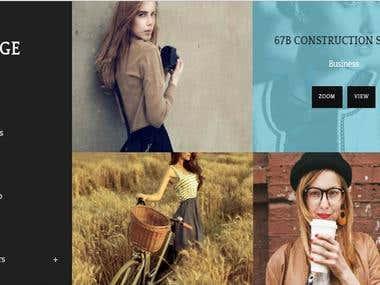 Página web para Fotografos /