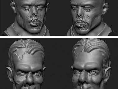 Zombie zbrush sculpt