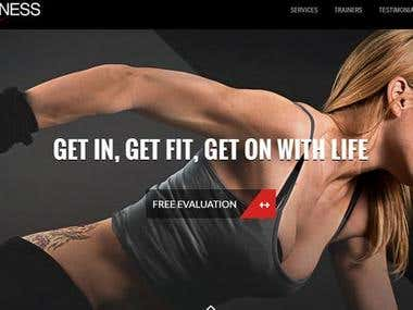 Fitness Training Website